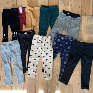 10 pair girl designer pants leggings Zara crewcuts